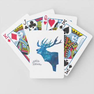 Deer with merry Christmas Bicycle Playing Cards