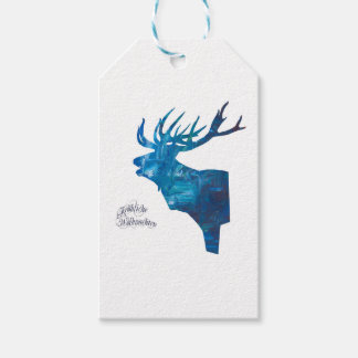 Deer with merry Christmas Gift Tags