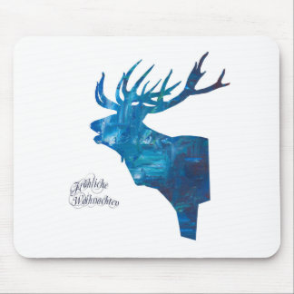 Deer with merry Christmas Mouse Pad