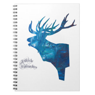 Deer with merry Christmas Notebook