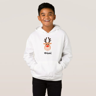 Deer with name Boy's Sweatshirt