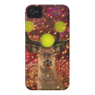 Deer with tennis balls in a shining forest . iPhone 4 cases