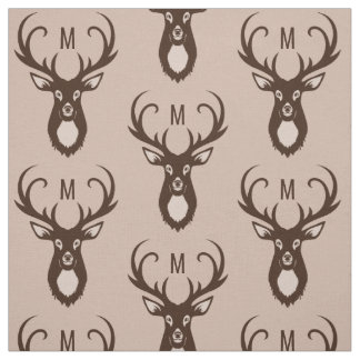 Deer with Your Monogram custom fabric
