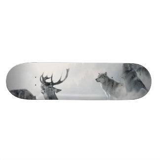 Deer Wolf Animal Custom Skateboard