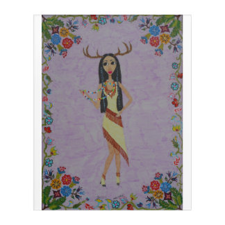 Deer Woman (Fairy Tale Fashion Series #5) Acrylic Wall Art