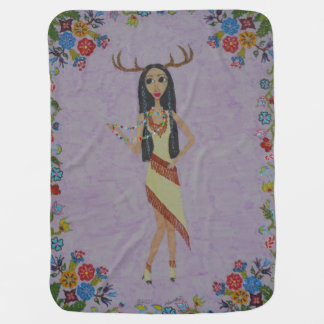 Deer Woman (Fairy Tale Fashion Series #5) Baby Blanket