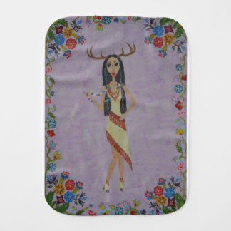 Deer Woman (Fairy Tale Fashion Series #5) Burp Cloth