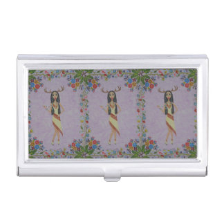 Deer Woman (Fairy Tale Fashion Series #5) Business Card Holder