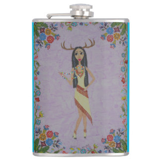 Deer Woman (Fairy Tale Fashion Series #5) Hip Flask