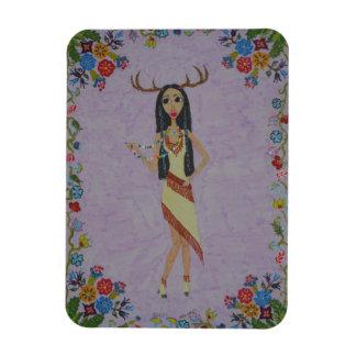 Deer Woman (Fairy Tale Fashion Series #5) Magnet
