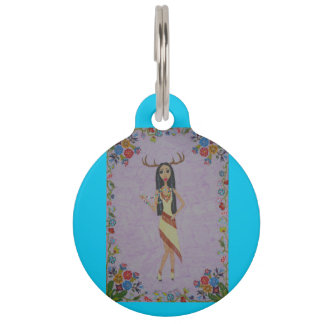 Deer Woman (Fairy Tale Fashion Series #5) Pet Name Tag