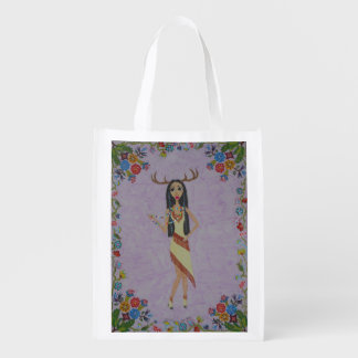 Deer Woman (Fairy Tale Fashion Series #5) Reusable Grocery Bag