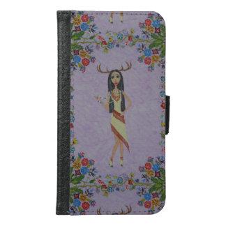 Deer Woman (Fairy Tale Fashion Series #5) Samsung Galaxy S6 Wallet Case