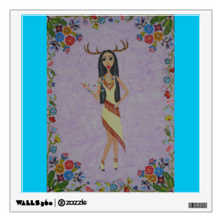 Deer Woman (Fairy Tale Fashion Series #5) Wall Decal