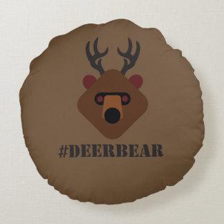 DeerBear Round Pillow