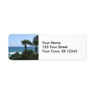 Deerfield Beach, FL Palm Trees Return Address Labe