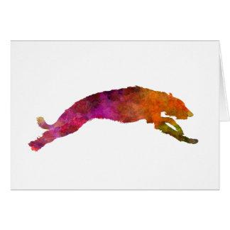 Deerhound 02 in watercolor-2 card
