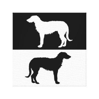 deerhound canvas print
