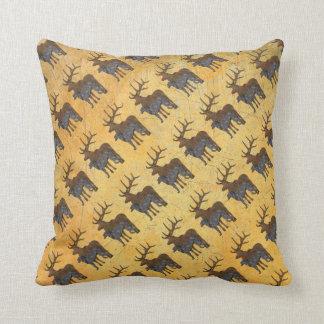 Deerhound & deer throw pillow