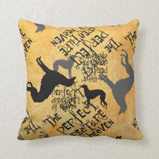 Deerhound Text Throw Pillow