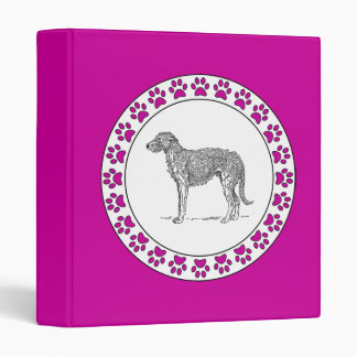 Deerhound with Pawprints Binder