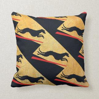Deerhound Yin Throw Pillow