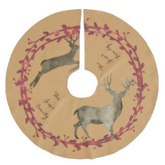 Deerhunter Christmas Wreath Brushed Polyester Tree Skirt
