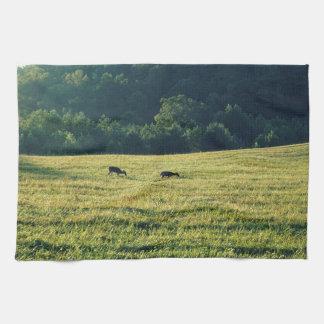 Deers Grazing Kitchen Towel
