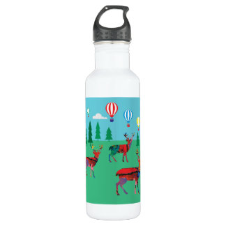 Deers & Hot Air Balloons 710 Ml Water Bottle