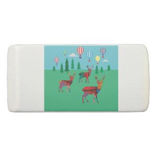 Deers & Hot Air Balloons Eraser