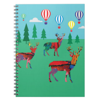 Deers & Hot Air Balloons Notebook