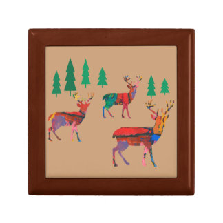 Deers in the Forest Trinket Boxes