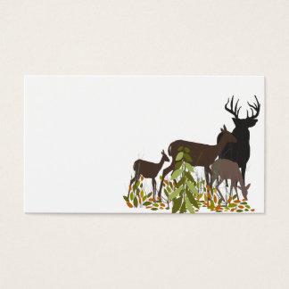 Deers in Wood. Christmas Business Card