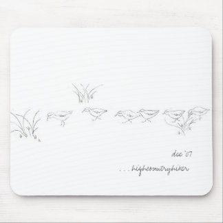 Dee's sandpipers (an original sketch) mouse pad