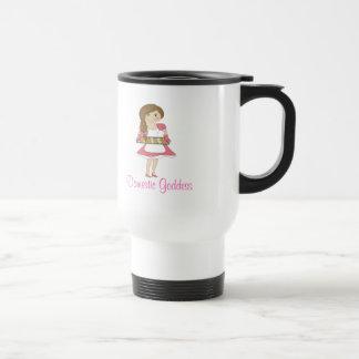 Déesse domestique (cheveux bruns) mugs