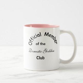 Déesse domestique mug bicolore