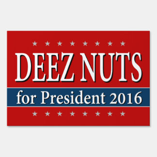 """DEEZ NUTS for PRESIDENT 2016"""