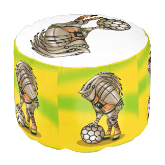 DEEZER ROBOT Sturdy Spun Polyester Round Pouf
