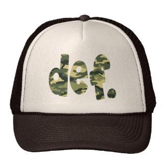 def. Camo Trucker Hat