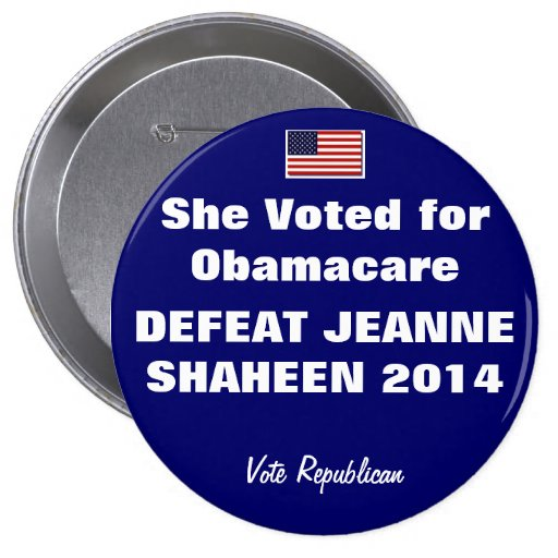 DEFEAT JEANNE SHAHEEN 2014 PINS