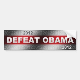 Defeat Obama 2012 Bumper Sticker