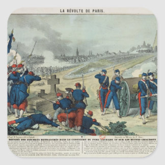 Defeat of the Rebels Entrenched in the Cemetery Sticker