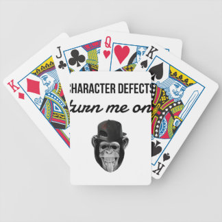 defect monkey bicycle playing cards
