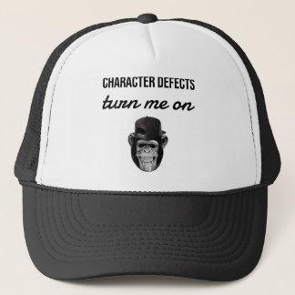 defect monkey trucker hat