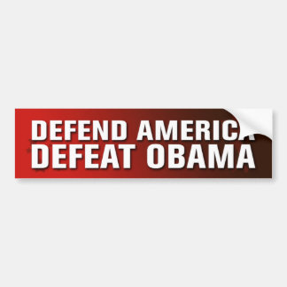 Defend America Defeat Obama Bumper Sticker