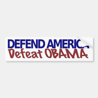 Defend America, Defeat Obama Bumper Sticker