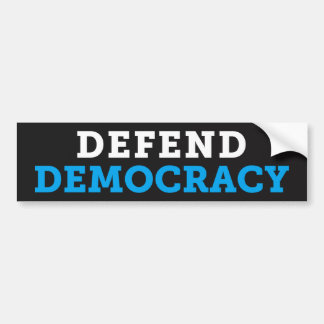 Defend Democracy Dark Bumper Sticker