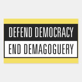Defend Democracy / End Demagoguery Sticker2