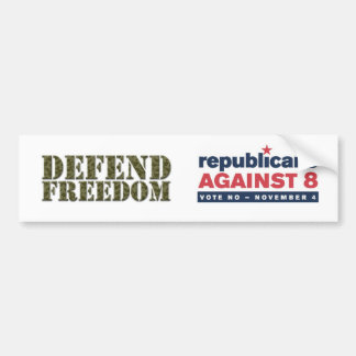 Defend Freedom, GOP vs 8 Bumper Sticker