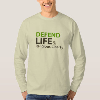 Defend Life and Religious Liberty Heart Shirt